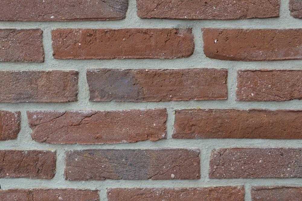 Håndstrøgne Besandede Facadesten - Type Rød-Brun 65-220