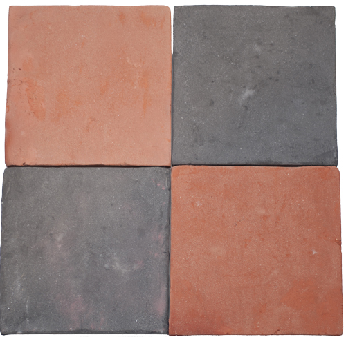 Besandede Tile Red + Tile Grey